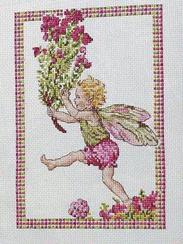Схема вышивания крестом - Фея цветов