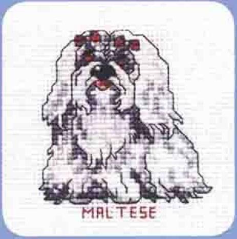 Схема вышивания крестом - Пёс