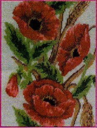 Схема вышивания бисером - Красные маки