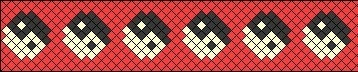 Схема плетения фенечки  с символом «Инь-Янь»