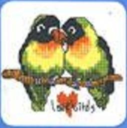 Схема вышивания крестом - Попугайчики
