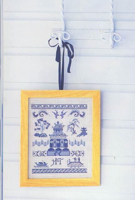 Схема вышивания крестом - Картина, Гжель