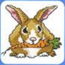 Схема вышивания крестом - Заяц
