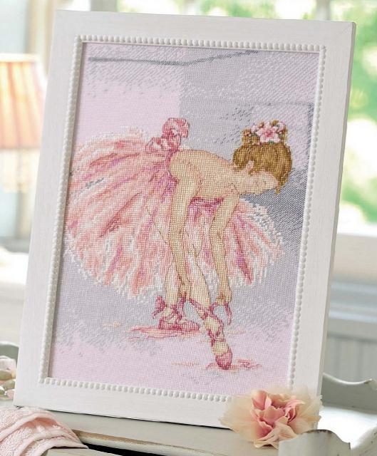 Схема вышивания крестом - Балерина