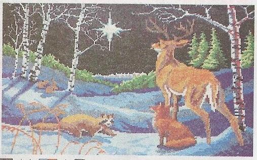 Схема вышивания бисером - Рождественская звезда