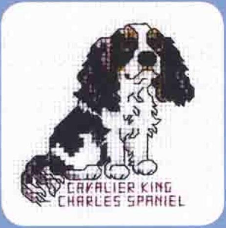 Схема вышивания крестом - Спаниель