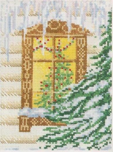 Схема вышивания бисером - Зимняя сказка