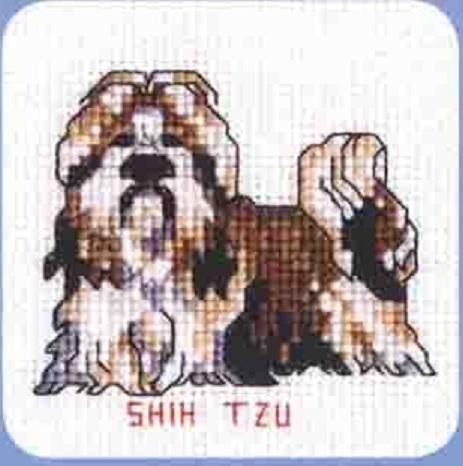 Схема вышивания крестом - Ши Тцу