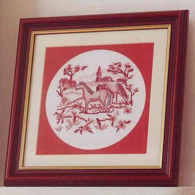 Схема вышивания крестом - Лошади