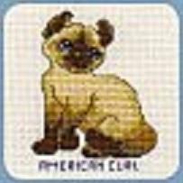 Схема вышивания крестом - Американский кёрл