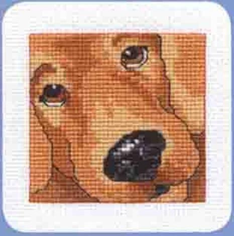 Схема вышивания крестом - Собака