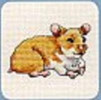 Схема вышивания крестом - Хомяк