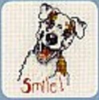 Схема вышивания крестом - Улыбающийся щенок