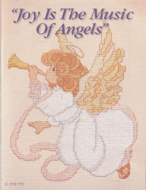 Схема вышивания крестом - Ангел музыки