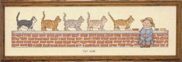 Схема вышивания крестом - Кошки на прогулке