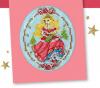 """Схема вышивания крестом - Открытка """"Рождественская принцесса"""""""