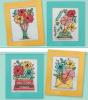 Схема вышивания крестом - Серия цветочных открыток