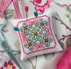 Схема вышивания крестом - Узор для игольницы