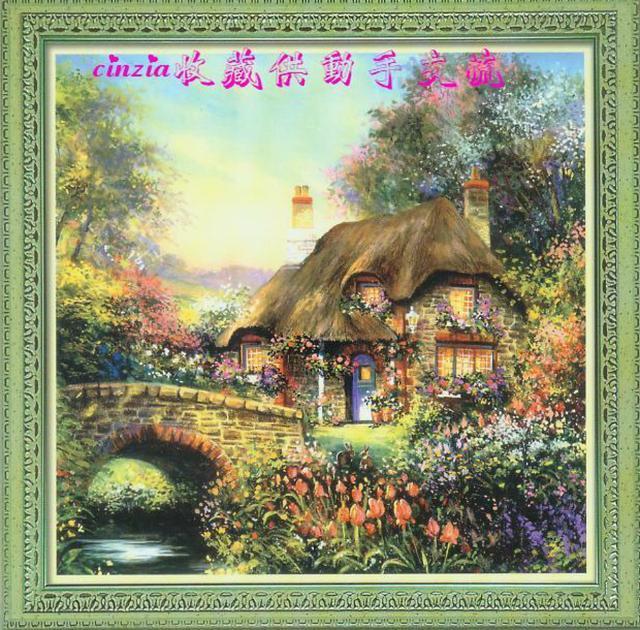 Схема вышивания крестом - Цветущий дом