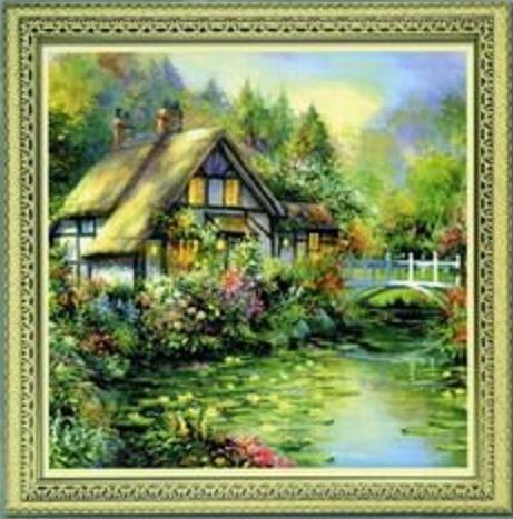 Схема вышивания крестом - Чудесный дом