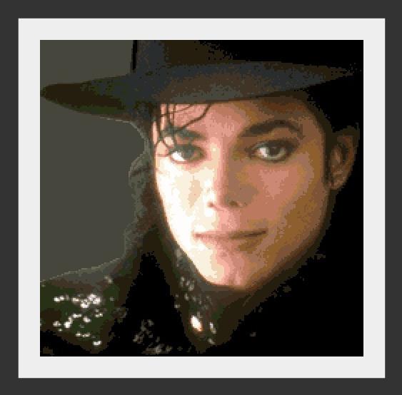 Схема вышивания крестом - Майкл Джексон (Michael Jackson)