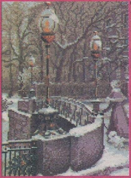 Схема вышивания бисером - Зима в Питере
