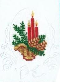 Схема вышивания крестом - Открытка С Новым годом!