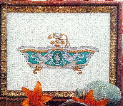 Схема вышивания крестом - Ванна