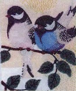 Схема вышивания бисером - Птички