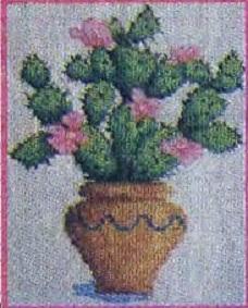 Схема вышивания бисером - Домашний кактус