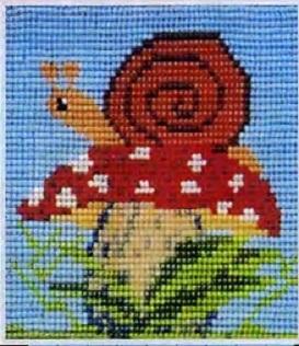 Схема вышивания бисером - Улитка