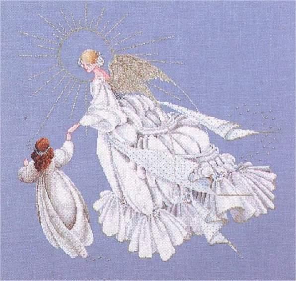 Схема вышивания крестом - Ангел милосердия