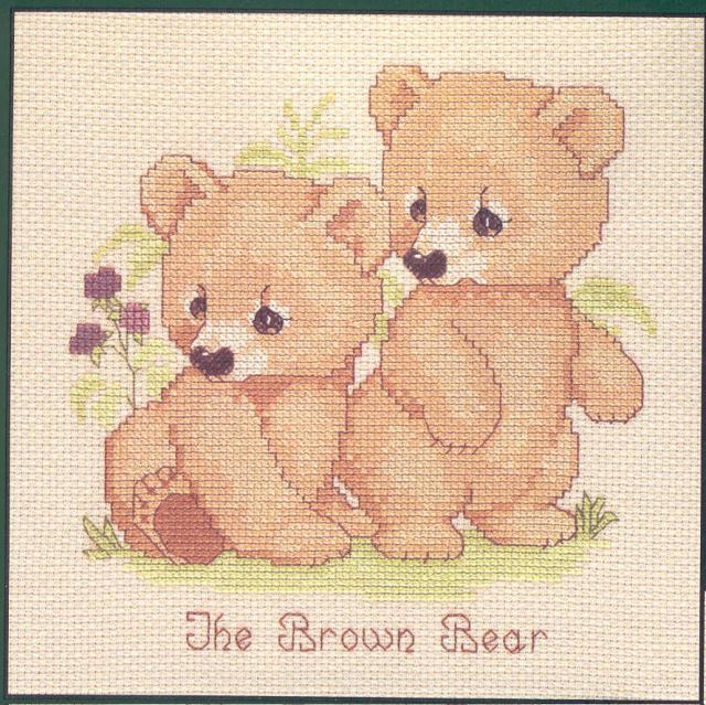 Схема вышивания крестом - Медвежата