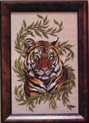 Схема вышивания крестом - Бенгальский тигр