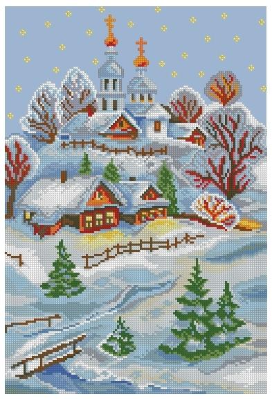 Схема вышивания крестом - Весёлое Рождество