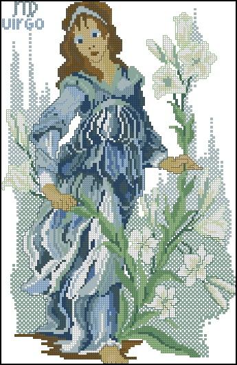 Схема вышивания крестом - Знаки зодиака Дева