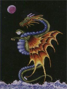 Схема вышивания крестом - Дракон