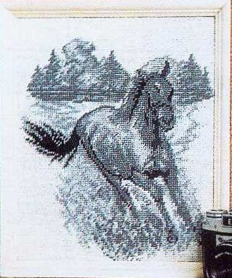 Схема вышивания крестом - Лошадь