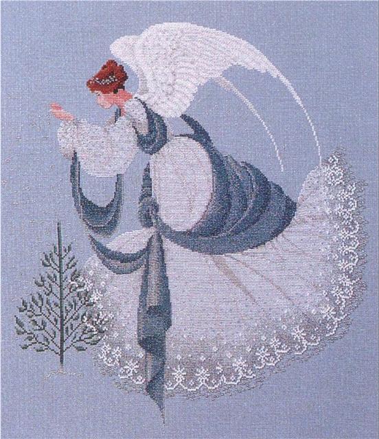 Схема вышивания крестом - Ангел льда