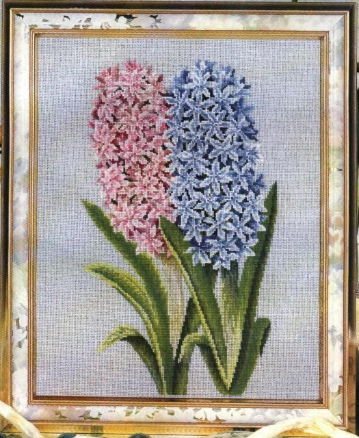 Схема вышивания крестом - Цветы из Средиземноморья