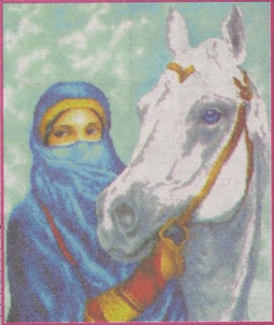 Схема вышивания бисером - Восточный конь