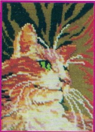 Схема вышивания бисером - Рыжий кот