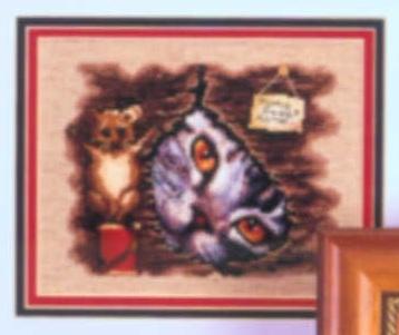 Схема вышивания крестом - Кошка и мышка