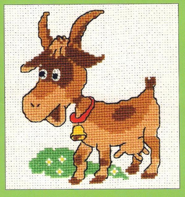 Схема вышивания крестом - Козочка