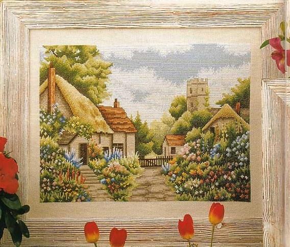 Схема вышивания крестом - Английское поле