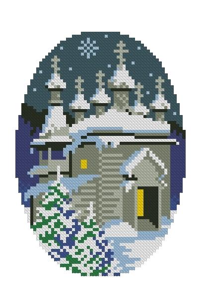 Схема вышивания крестом - Рождество Христово