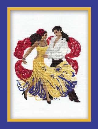 Схема вышивания крестом - Танцующая пара
