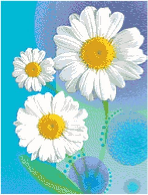 Схема плетения ромашки бисером цветов фото 457