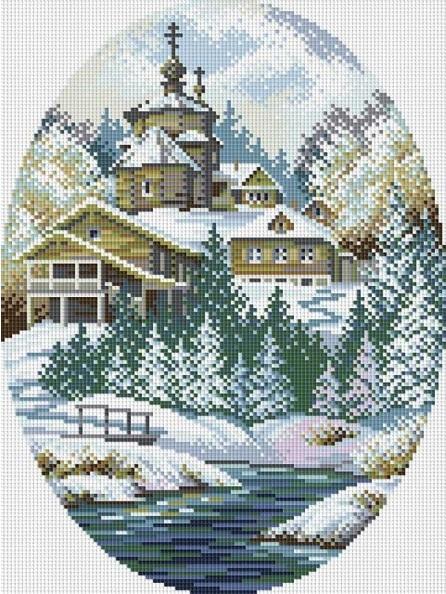 Схема вышивания крестом - Зимняя сказка