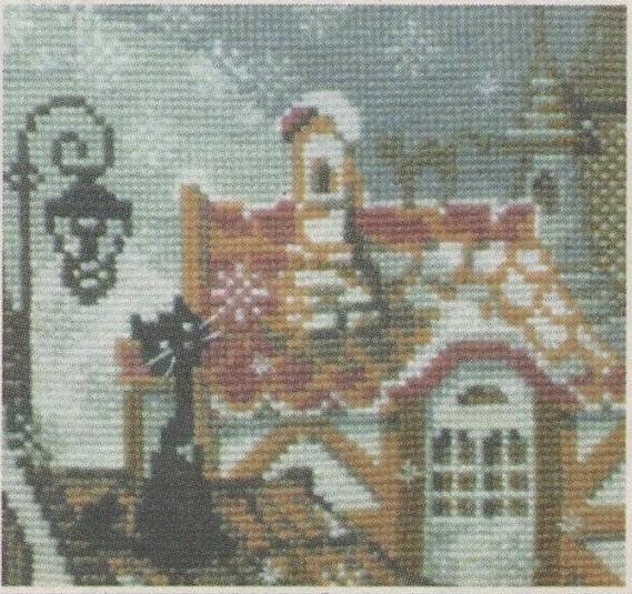 Схема вышивания бисером - Первый снег